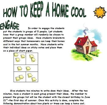 How to Keep a Home Cool Science Investigation