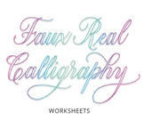 How to Learn Faux Calligraphy (Guided Worksheets)