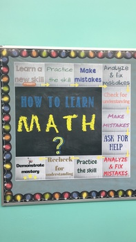 How to Learn Math Printable Poster