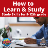 How to: Learn and Study Study Skills Boom Cards for Gr 9-1
