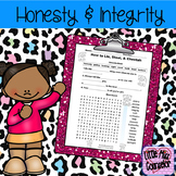 How to Lie, Steal, and Cheetah Word Search and Fill in the Blank worksheet