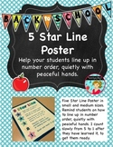 How to Line Up Student Poster ~ Five Star Line
