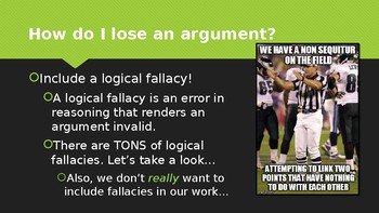 How to Lose an Argument: Logical Fallacies (PPT)