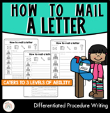 How to mail a letter | Differentiated Procedural Writing Worksheets