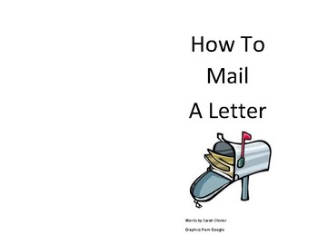 How to Mail a Letter Emergent Reader