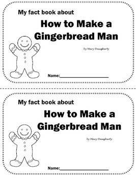 How to Make A Gingerbread Cookie Nonfiction Close Book
