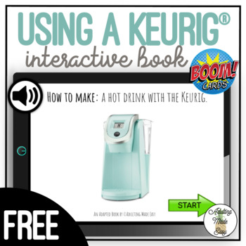 How to Make: A Hot Drink With The Keurig - Visual Adapted Book FREEBIE