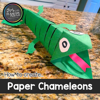 How to Make: A Paper Chameleon Sculpture (Freebie)