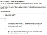 "How to Make ""Aged"" Paper"