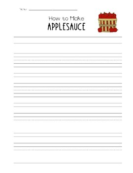 I Can Make Applesauce -  Writing and Math Activities