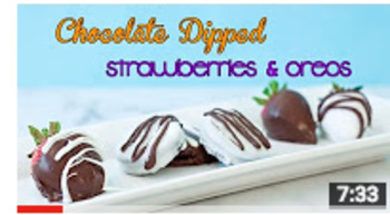 How to Make Chocolate Dipped Strawberries and Oreo Cookies Video