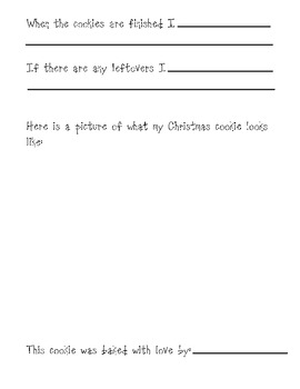 How to Make Christmas Cookies Recipe Form