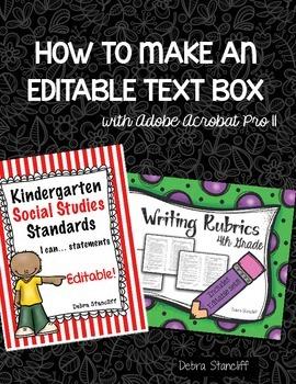 How to Make Editable Text Boxes on Acrobat Pro