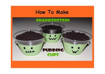How to Make Frankenstein Pudding Cups