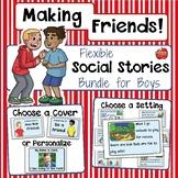 Social Skills: Making Friends Social Stories-EDITABLE Bund