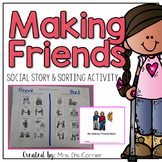 How to Make Friends Social Story and Sorting Activity