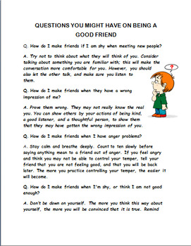 How to Make Friends and Keep Them- MIddle School