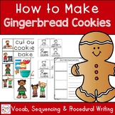 How to Make Gingerbread Cookies Sequencing and Writng