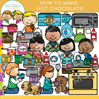How to Make Hot Chocolate Clip Art  {Sequencing and Winter Clip Art}
