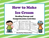 How to Make Ice Cream: Reading Passage and Comprehension Pages