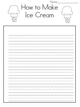 How to Make Ice Cream Writing Prompt