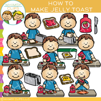 How to Make Jelly Toast Sequencing Clip Art