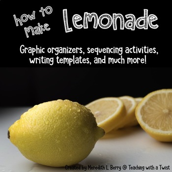 How to Make Lemonade-Writing Printables and Craftivity