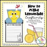 How to Make Lemonade Craft | How To Writing | Summer Activities