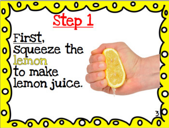 How To Make Lemonade Procedural Book With Activity Pdf And Editable