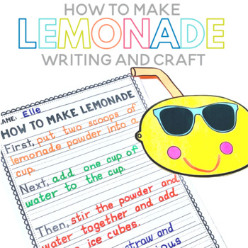 How to Make Lemonade Writing and Craft