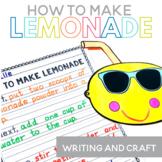 How to Make Lemonade Writing and Craft