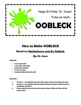 How to Make Oobleck (Slime)