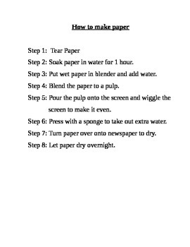 How to Make Paper - Instructions