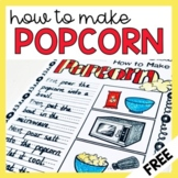 How to Make Popcorn Procedure Writing Worksheet