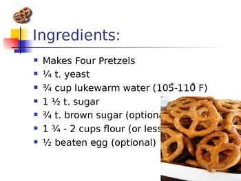 How to Make Pretzels PPT