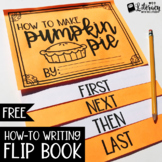 How to Make Pumpkin Pie Flip Book {How-to Writing FREEBIE}
