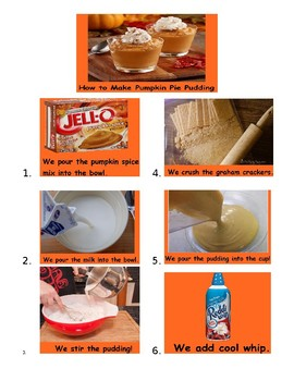 How to Make Pumpkin Pie Pudding (Core Language Visuals)