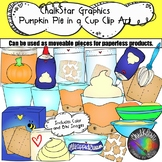 How to Make Pumpkin Pie in a Cup Clip Art- Chalkstar Graphics