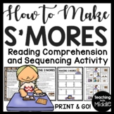 How to Make S'mores Reading Comprehension Worksheet and Sequencing Smores