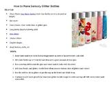 How to Make Sensory Glitter Bottles