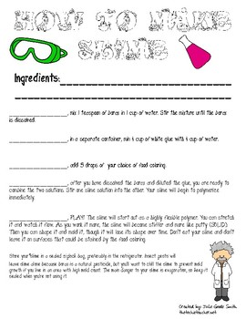 Transition Words Lesson: How to Make Slime