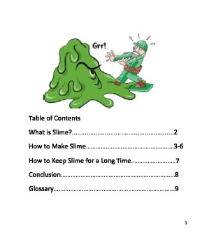 Make slime teaching resources teachers pay teachers how to make slime nf book ccuart Gallery