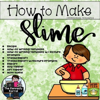 How To Make Slime Writing And Recipe By The Kennedy Korral Tpt