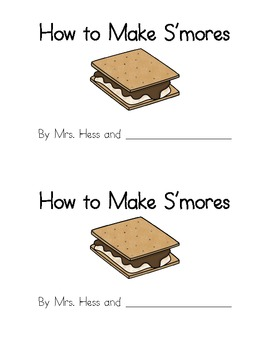 How to Make S'mores Emergent Reader