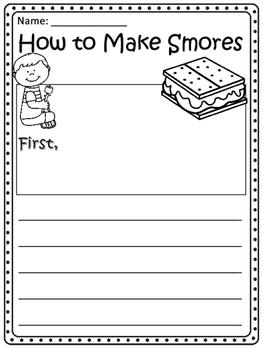 How to Make Smores Writing Paper