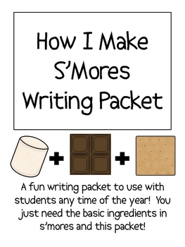 How to Make S'mores (smores) Writing Packet by Smart Chick ...