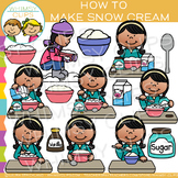 How to Make Snow Cream Sequencing Clip Art