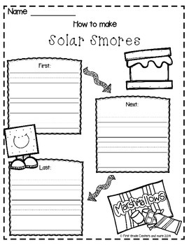 How to Make Solar Smores Freebie by First Grade Centers ...