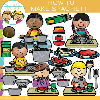 How to Make Spaghetti: Sequencing and Cooking Clip Art