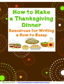 How to Make Thanksgiving Dinner - How-to Essay Resources
